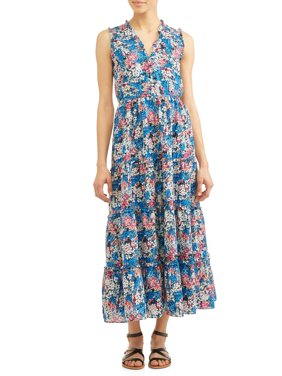 Meg Tiered Ruffled Sleeveless Dress Women's
