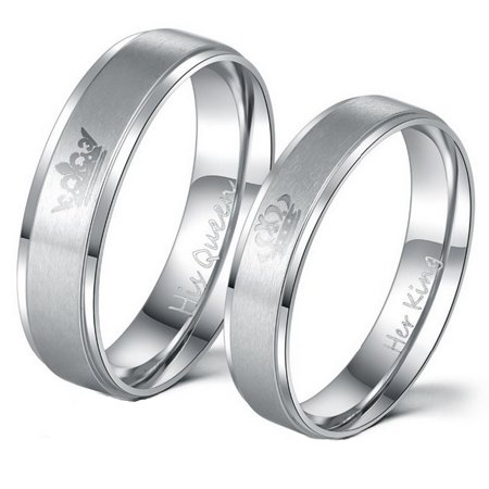 Couple's Matching King Queen Ring,