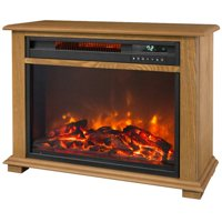 Lifesmart Infrared Medium Fireplace in Oak with Remote