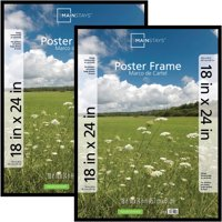 """Mainstays 18"""" x 24"""" Basic Poster and Picture Frame, Black, Set of 2"""