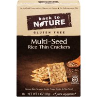 (2 Pack) 12 Pack : Back To Nature Gluten Free Rice Thins, Multi-seed, 4 Ounce