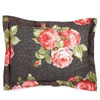 The Pioneer Woman Rose Garden Sham Set, Grey