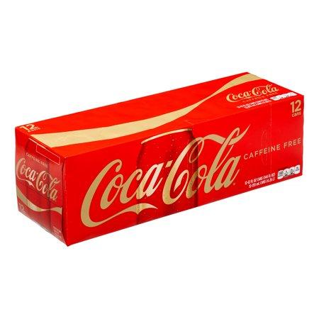 (3 Pack) Coca-Cola Caffeine-Free Soda, 12 Fl Oz, 12 Count