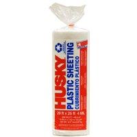 Husky 20' x 25' 4 mil Clear Plastic Sheeting