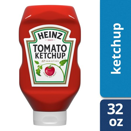 (2 Pack) Heinz Tomato Ketchup, 32 oz Bottle