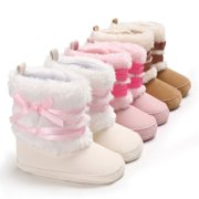 c9787843ec32 Newborn Toddler Kid Baby Girl Boy Snow Shoes Winter Soft Sole Prewalker  Crib Boots