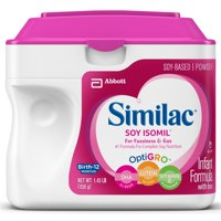 Similac Soy Isomil Infant Formula with Iron, Powder, 1.45 lb