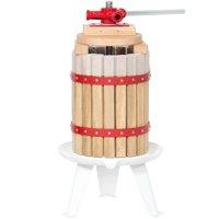 Best Choice Products 6L Kitchen Fruit Juicer Wine Basket Press Juice Maker- Natural/Red