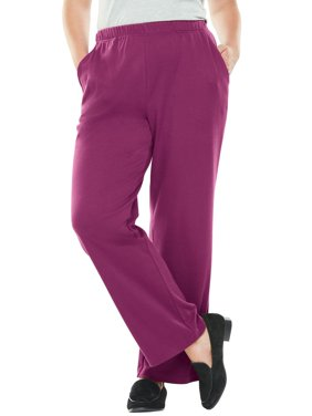 Woman Within 7-day Knit Wide Leg Pant