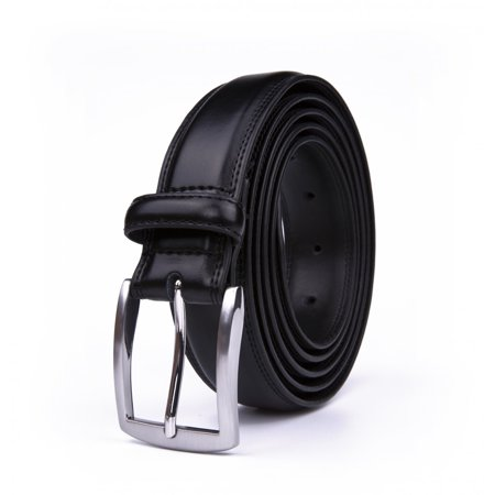Belt For Men, Classic 1.25-inch Wide Genuine Leather Dress Belt -