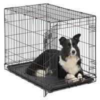 """MidWest 36"""" Single Door iCrate Metal Dog Crate, Black"""