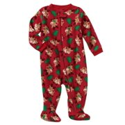 075b8c2e38 Infant Boys Christmas Tree Reindeer Fleece Blanket Sleeper Sleep   Play