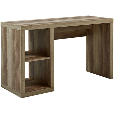 Better Homes and Gardens Cube Storage Organizer Office Desk, Multiple Finishes - Office Desk Height Bridge