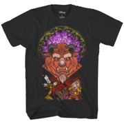 ec2c386c47 Disney Beauty and The Beast Stained Glass Belle Adult Mens Tee Graphic T- Shirt Apparel