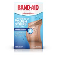 Band-Aid Brand Tough-Strips Waterproof Bandage, Extra Large, 10 ct