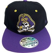 los angeles 24938 9eb05 ECU East Carolina Pirates 3-D Pirate Logo Flat Fill Adult Flex Fit Cap Hat