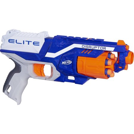 Nerf N-Strike Elite Disruptor Blaster with 6 Nerf Elite (Best Nerf Gift For A 7 Year Old Boys)