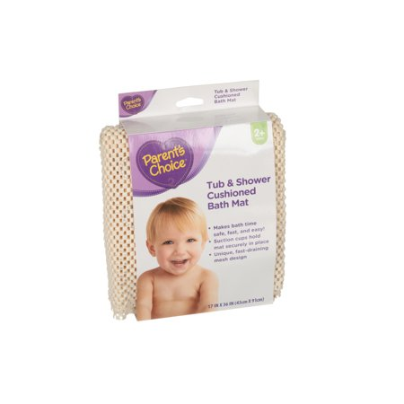 Cushioned Bath Mat (Parent's Choice Tub & Shower Cushioned Bath Mat, 2+ Years )