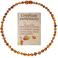 Mommy's Touch® 100% Natural Amber Teething Necklace (Cognac)