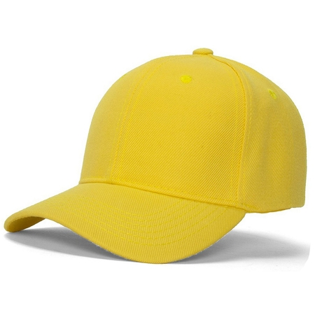 Men's Plain Baseball Cap Adjustable Curved Visor (Palm Handspring Visor)