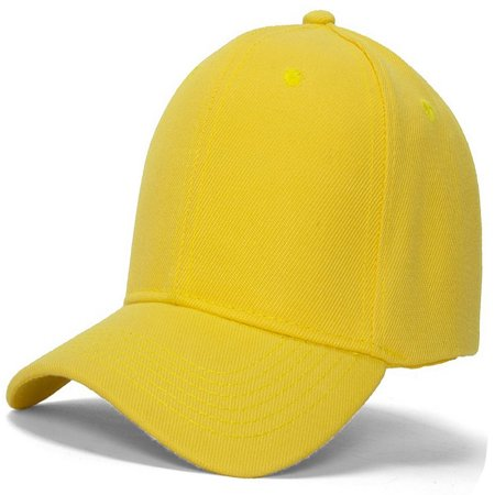 Men's Plain Baseball Cap Adjustable Curved Visor