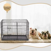 """BestPet 30"""" Pet Kennel Cat Dog Folding Crate Wire Metal Cage W/Divider"""