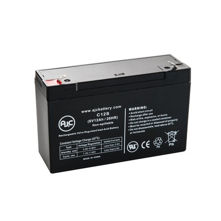 Panasonic LCR6V12 6V 12Ah UPS Battery - This is an AJC Brand Replacement