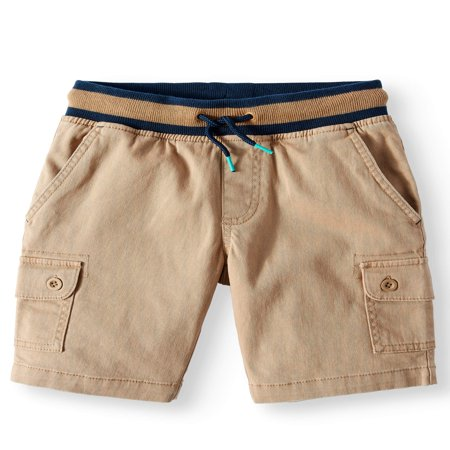 Wonder Nation Rib Waist Cargo Pull On Short (Little Boys, Big Boys, & Husky)