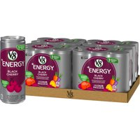 (24 Cans) V8 +Energy Black Cherry, 8 Fl Oz