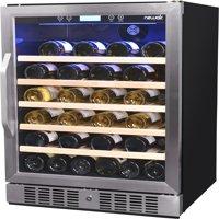 NewAir 52-Bottle Compressor Wine Refrigerator, Stainless Steel