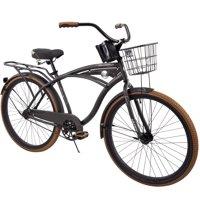 """Huffy 26"""" Nel Lusso Men's Single-Speed Comfort Cruiser Bike, Black"""
