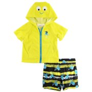 f9397ab9cd Wippette Baby Boys Newborn Pirate Octopus Terry Cover-up Swim Trunk Set