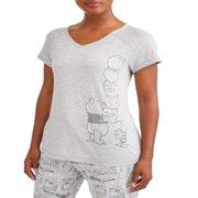 Women's and Women's Plus Winnie the Pooh T-Shirt Pajama Pant Set