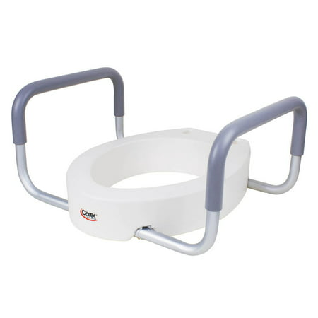 Carex Raised Toilet Seat With Handles Standard Elongated