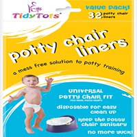TidyTots Disposable Potty Chair Liners - Value Pack - 32 liners - Universal Potty Chair Fit (fits most potty chairs)