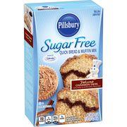 (2 Pack) Pillsbury Sugar Free Cinnamon Swirl Quick Bread & Muffin Mix, 16.4oz