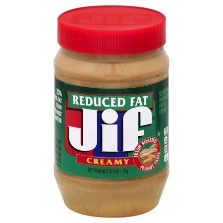Jif Reduced Fat Creamy Peanut Butter, 40 oz