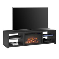 "Ameriwood Home Donovan Fireplace TV Stand for TVs up to 70"" Black"