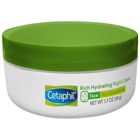 Cetaphil Rich Hydrating Night Cream, Face Moisturizer For Dry Skin, 1.7 (Best Face Cream For Older Skin Uk)