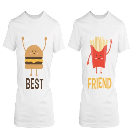 Burger and Fries BFF Shirts Best Friend Matching Tees Cute Friendship