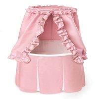 Badger Basket Empress Round Baby Bassinet, Pink