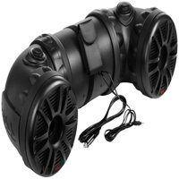 "Boss ATV80 Dual 8"" 700W ATV/Marine Amplified Tube Speaker System w/Aux"