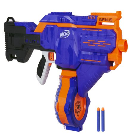 Nerf N-strike Elite Infinus with Speed-Load Technology, 30-Dart Drum, and 30 Nerf Elite Darts