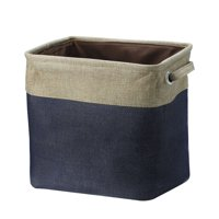 Unique Bargains Fabric Storage Baskets Cube Bin 3 Colors,3 Size