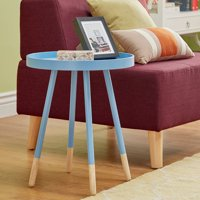 Chelsea Lane Round Tray End Table, Multiple Colors