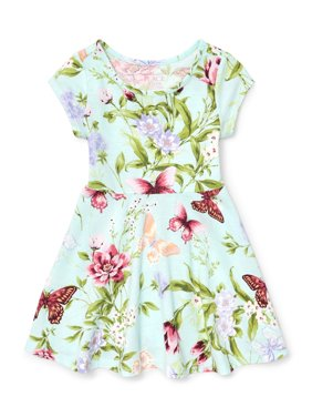 Knit Butterfly Floral Dress (Baby Girls & Toddler Girls)