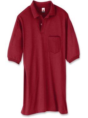 Men's Comfort Blend EcoSmart Jersey Polo with Pocket
