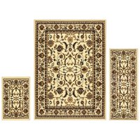 Superior Barringer Collection with 6mm Pile and Jute Backing, Moisture Resistant and Anti-Static Indoor 3-Piece Area Rug Set with 2' x 3', 2' x 5', and 5' x 7' Sizes Each