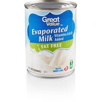 (3 Pack) Great Value Evaporated Fat Free Milk, 12 oz