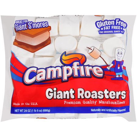 (4 Pack) Campfire Giant Roasters Premium Quality Marshmallows, 24 oz - Stormtrooper Marshmallows